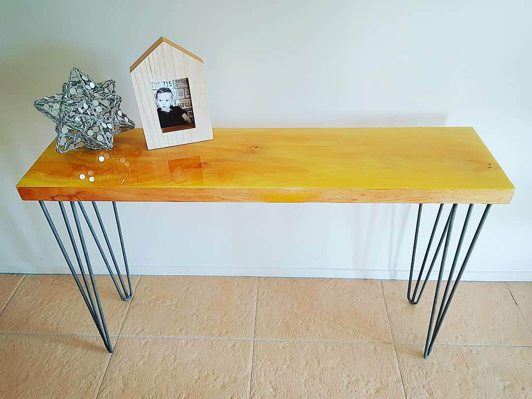 Yellow Console Table Alice Rosier Art